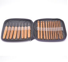 20 pcs Crochet Hook and Knitting Needle set made of Bamboo in PU bag