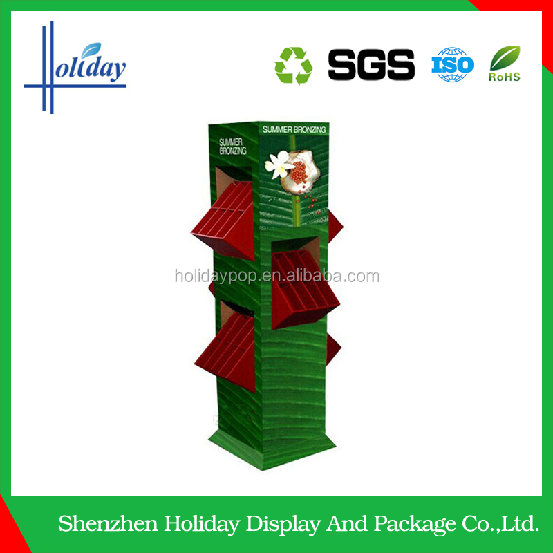 Eco-friendly Wholesale customized cardboard floor display