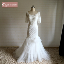 Tailor-made tailor-made lace sweet wedding dress