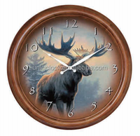 24 inch Customized vintage cheap decorated wood art wall clock large clock