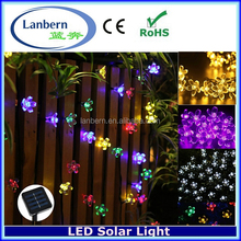 2016 Holiday Festival IP44 outdoor 2.9m 20leds Solar Powered Fairy String Peach Blossom LED Flower Tree Light JD-SLS-20Peaches