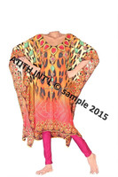 DIGITALLY PRINTED POLYESTER KAFTANS