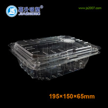 Large Volume Clear Plastic Fruit And Vegetable Clamshell Packaging Box