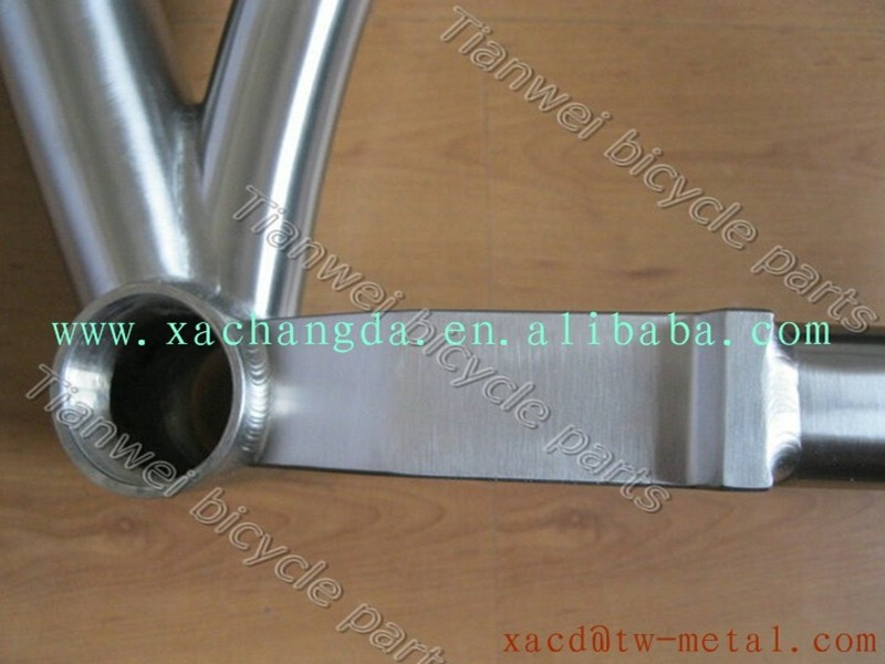 titanium mountain bicycle frame 29er titanium MTB bike frame with disk brake chinese Ti MTB bike frame with taper tube