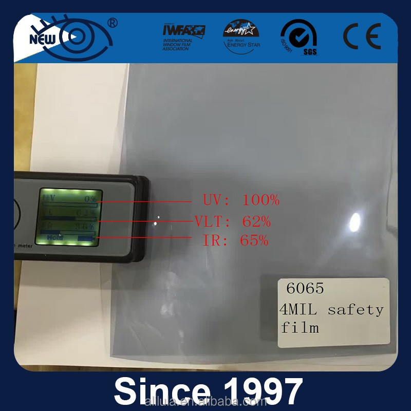 New products factory supply High heat rejection UV99 2 ply 4 mil safety film