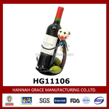 New Product Single Funny Wine Bottle Holder Metal
