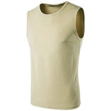 Factory Supply Solid Color Custom Shirt Mens Sleeveless T Shirt