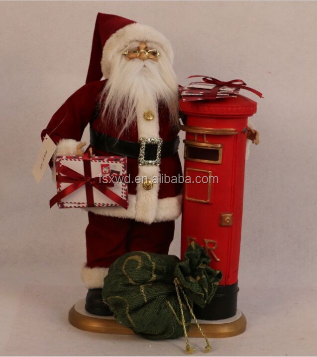18 Inch santa claus with mailbox
