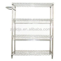 Wire shelving with handle