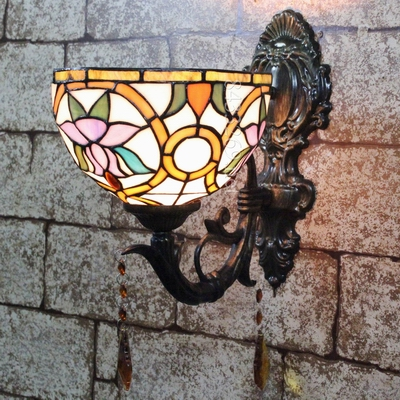 new european tiffany creative wall lamp with baroque design for friends