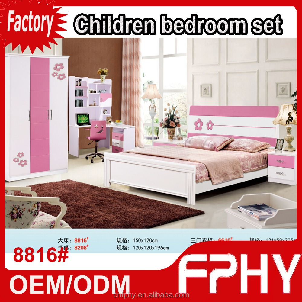 Wholesales FPHY 88 series 8816# Children Wooden MDF marble top bedroom furniture
