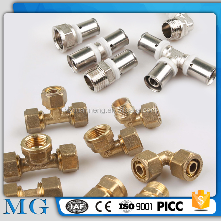 wholesale rotating pipe fittings carbon straight tee sanitary brass fitting for pvc pipe
