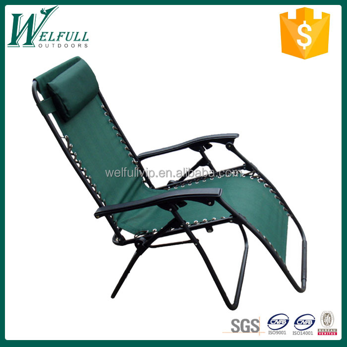 Outdoor furniture, Zero gravity chairs with adjustable pillow