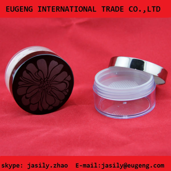 20g plastic clear cosmetic loose powder case