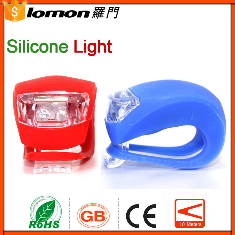 Q10 2 LED Bicycle Light Lamp Colorful Rubber Rear Wheel Waterproof Safety Led Silicone Front Bicycle Light