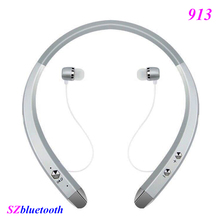 OEM 2017 913 bluetooth V4.0 noise cancelling wireless stereo sport neckband bluetooth headset