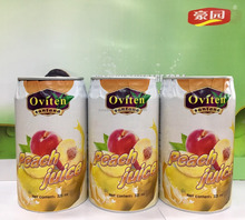 New product Healthy 30% peach juice in 325ml tin can