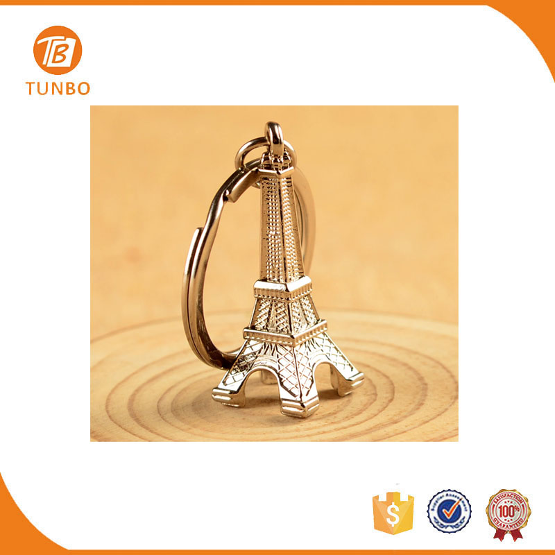 Unique design promotion gift eiffel tower metal keychain souvenir