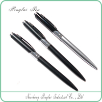 fashion hotel silver promotional logo metal twist ball point pen