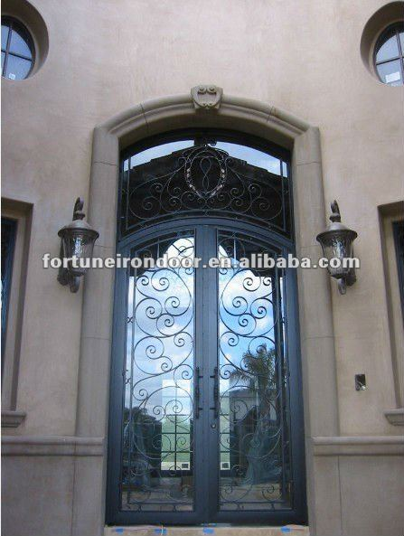 Custom wrought iron american entry door