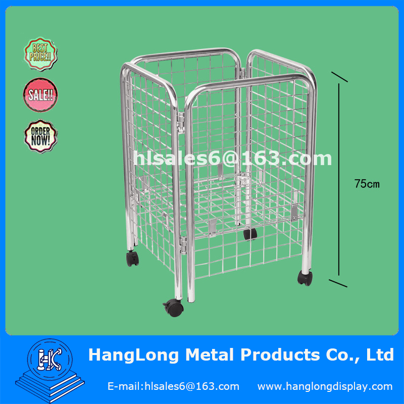 metal portable wire storage cage with wheels