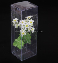clear transparent plastic pvc flower packing gift box