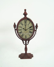 Retro french metal floor standing clocks