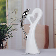 ceramic porcelain single bird on the tree figurine for cheap