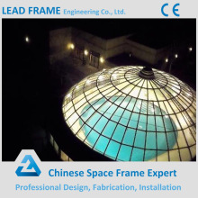 Light steel structure design dome roof for conference hall