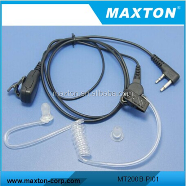 Maxton air duct ear piece with 2 pin for IC-F3 IC-F21 IC-F21S IC-F22S radio