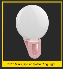 2018 Selfie Portable clip mount Lighted makeup mirror selfie ring light with new function emergency power bank