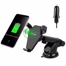 Universal Micro Usb Charger For Cell Phone Car amount holder + Charger Wireless Charger