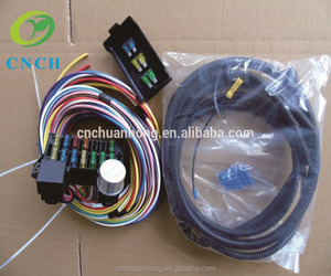 CNCH High Quality modified car accessories fuse box Universal 12 Circuits mini Wiring Harness CH1218012