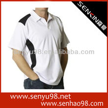 new design high quality white color polo t shirt wholesale