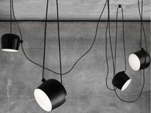 Drum shape matt black and white metal pendant lamp with Italy designer