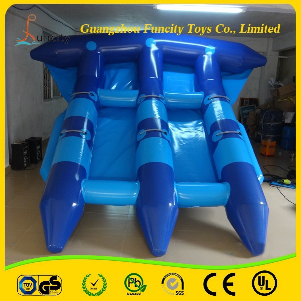 Funny flying fish boat/inflatable fly fish/flying fish tude for water games!!!