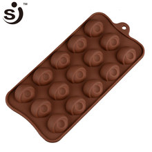 Yiwu Factory Supplier New Arrival Eye Mini Silicone Unique 3D Custom Chocolate Mold
