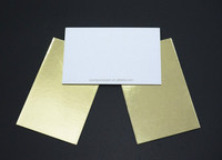 Pet coated gold laminated duplex white paper for cake boards