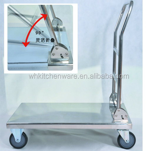 stainless steel folding hand push cart