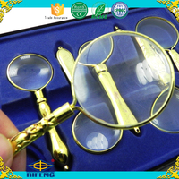 High quality hand magnifier gift magnifying glass set