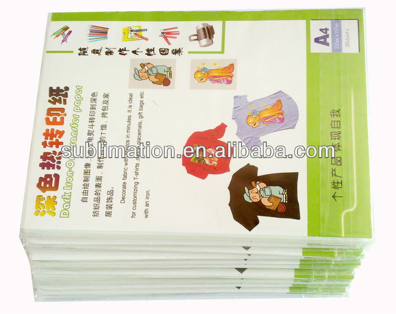 t-shirt heat transfer paper for dark cotton fabric