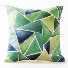"China ningbo 18x18"" 45x45 cm printed home decor linen chair sofa cushion with leaves"