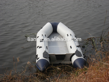 Liya 8 person inflatable floating boats 0.9mm Korea pvc boats with engine