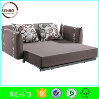 2015 latest design folding futon sofa bed / l shape sofa cum bed / mechanism for sofa bed