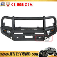 Unity manufacturer Wholesale New Model front bumper 4x4 land cruiser bull bar With Stone Guard
