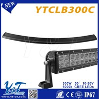 50 inch Slim-Line LED Indicator Bar 300w/ Reflex Lens and Black led light bar truck and trailer