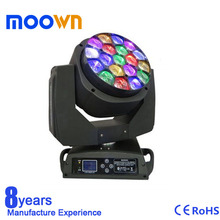 New Product Sharp Zoom 19x15w Led Moving Head Bee eye Light