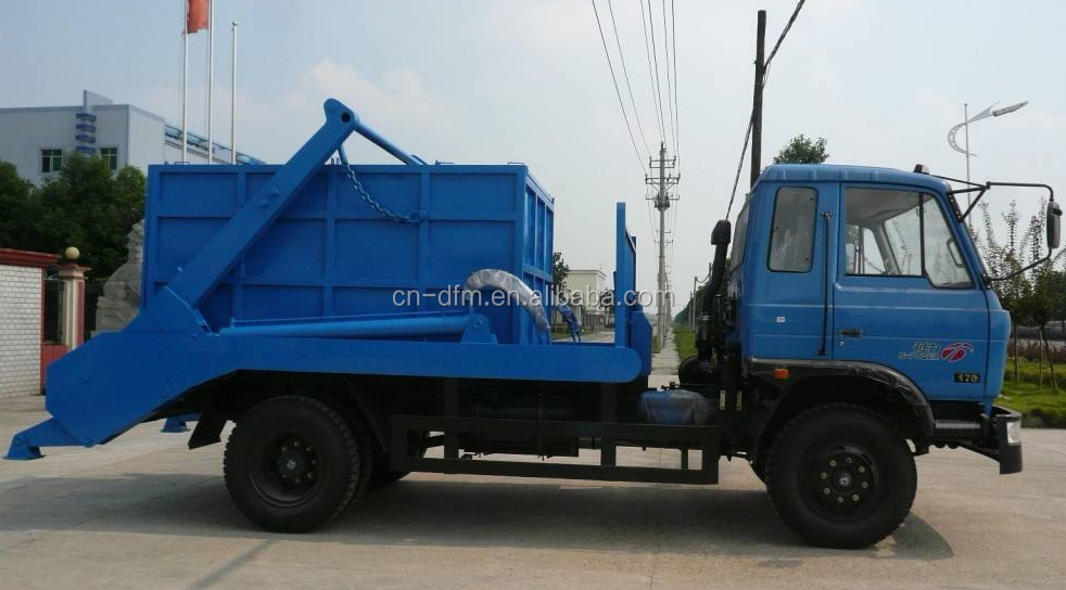dongfeng 4x2 swing arm roll type garbage truck garbage truck refuse collection vehicle for sale