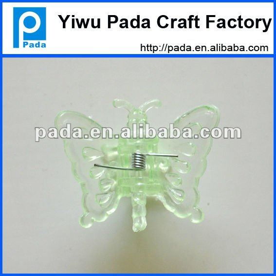 green butterfly plant support clip
