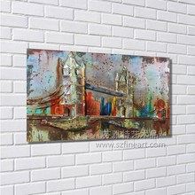 Original design metal wall art of bridge